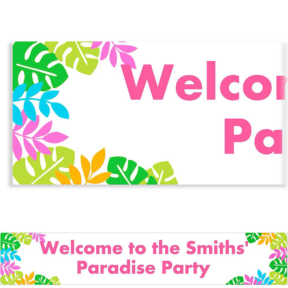 Custom Palm Leaf Banner 6ft Image #1