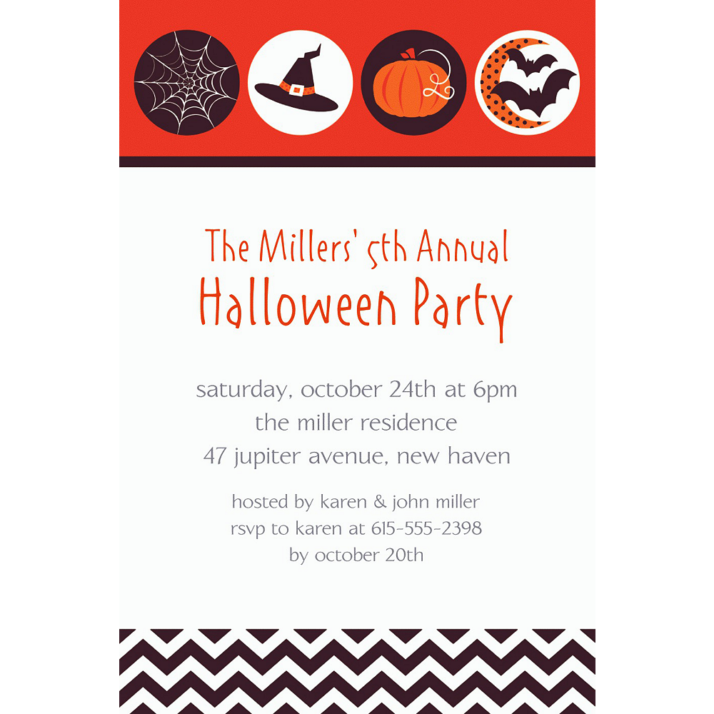 Custom Modern Halloween Invitations Image #1