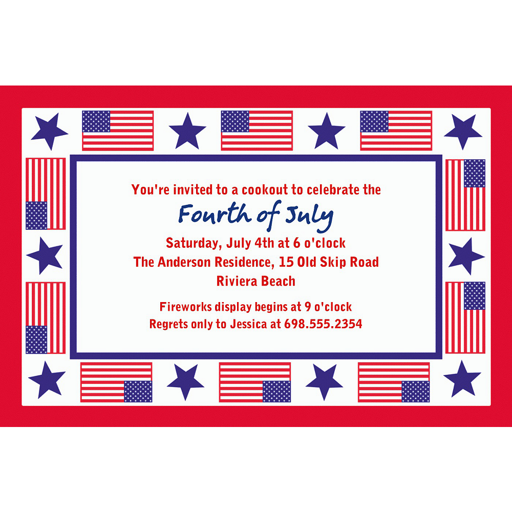 Custom Patriotic Party Invitations Image #1