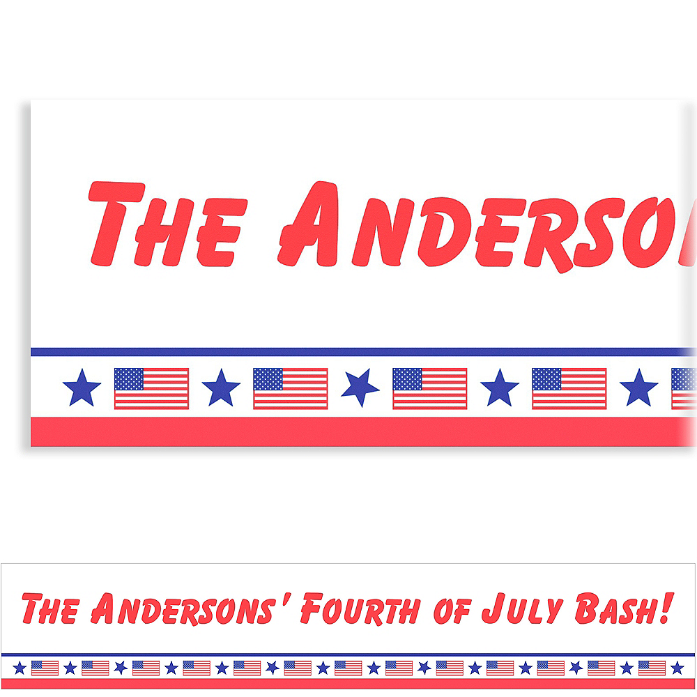 Custom Patriotic Party Banner 6ft Image #1