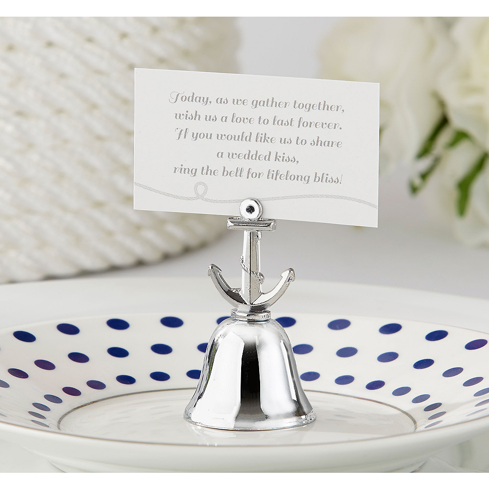 Anchor Kissing Bell Place Card Holders Image #1