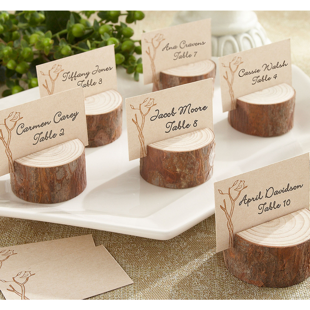 Rustic Tree Wood Place Card Holders Image #1
