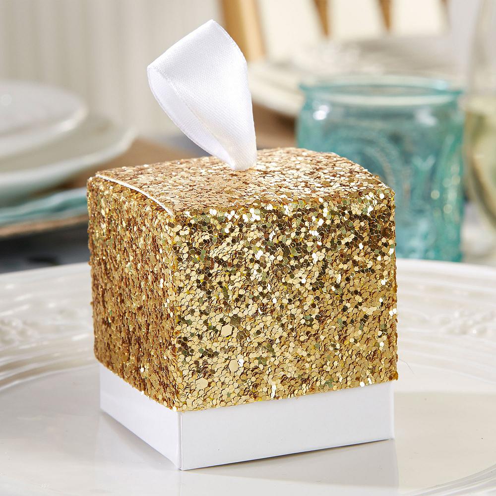 Gold Glitter Favor Boxes Image #1