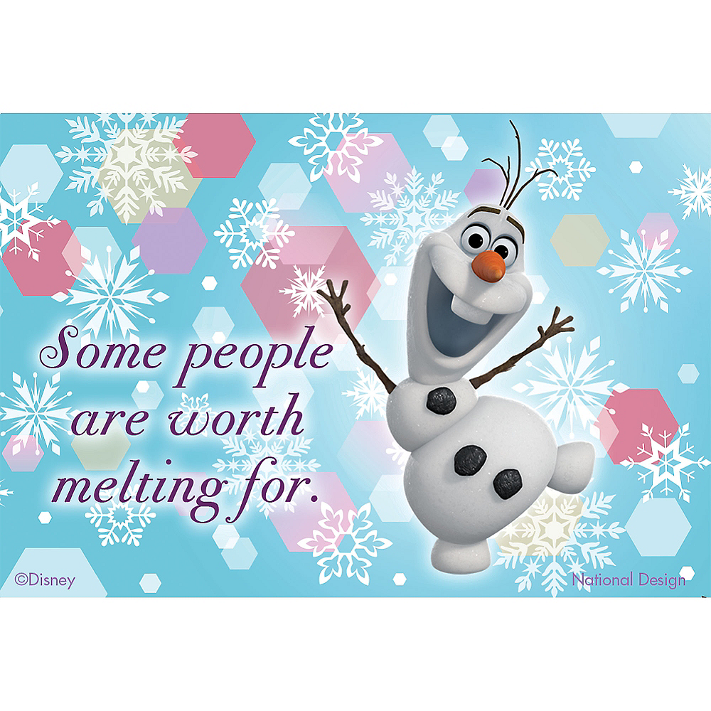 Worth Melting For Olaf Magnet - Frozen Image #1
