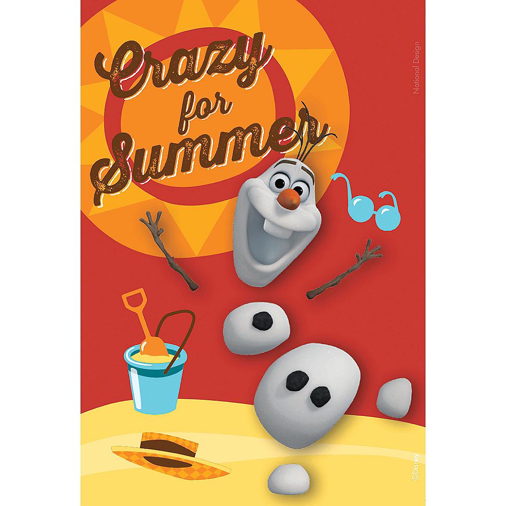 Crazy for Summer Olaf Magnet - Frozen Image #1