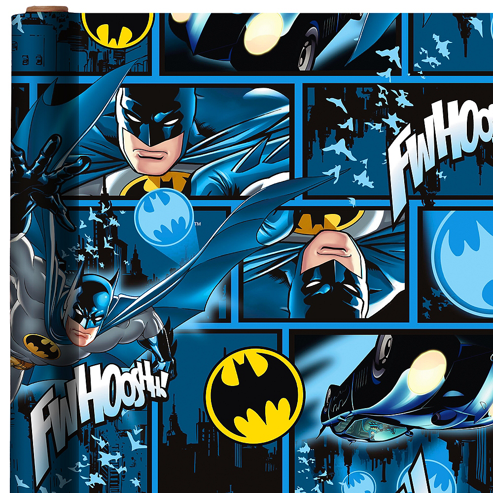 Blue Batman Gift Wrap Image #1