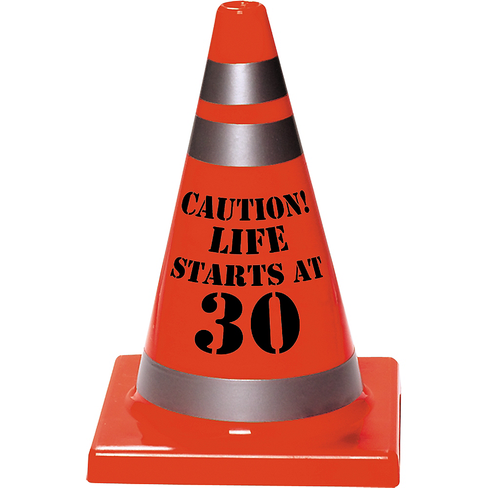 30th Birthday Safety Cone Image #1