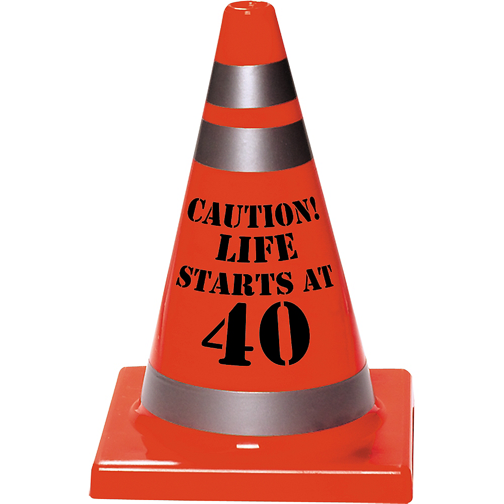 40th Birthday Safety Cone Image #1