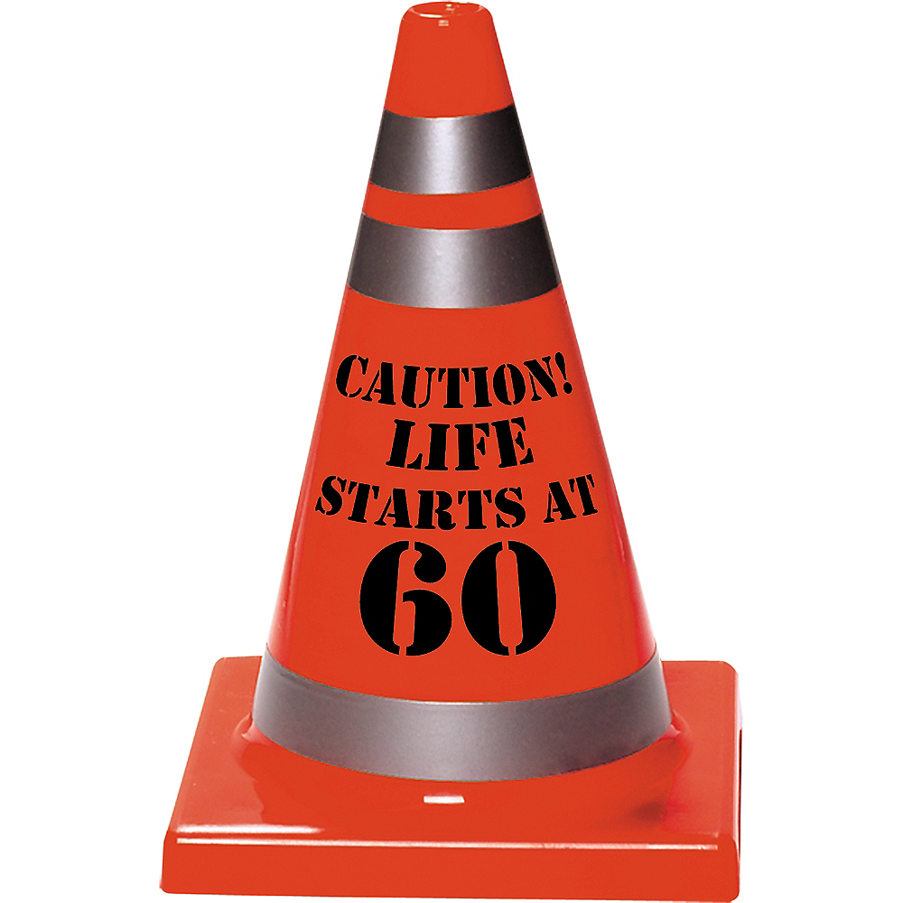 60th Birthday Safety Cone Image #1
