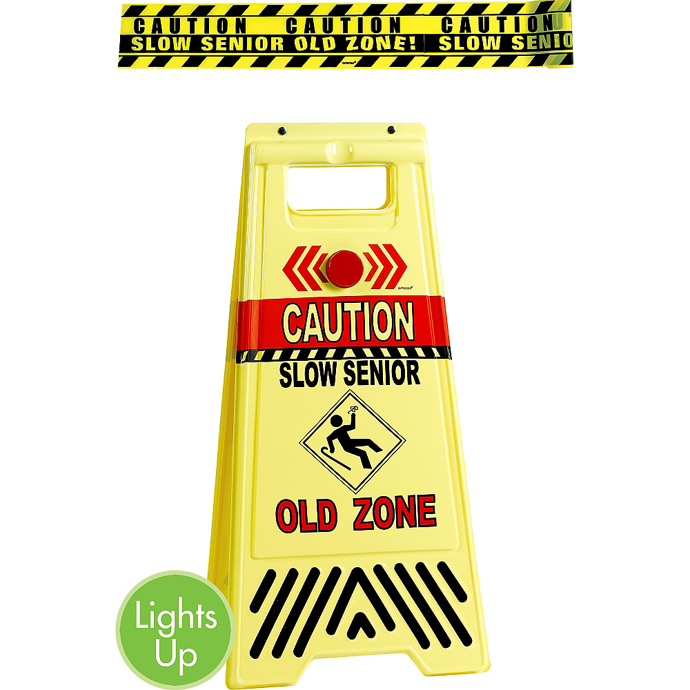 Old Zone Caution Floor Sign & Caution Tape Image #1