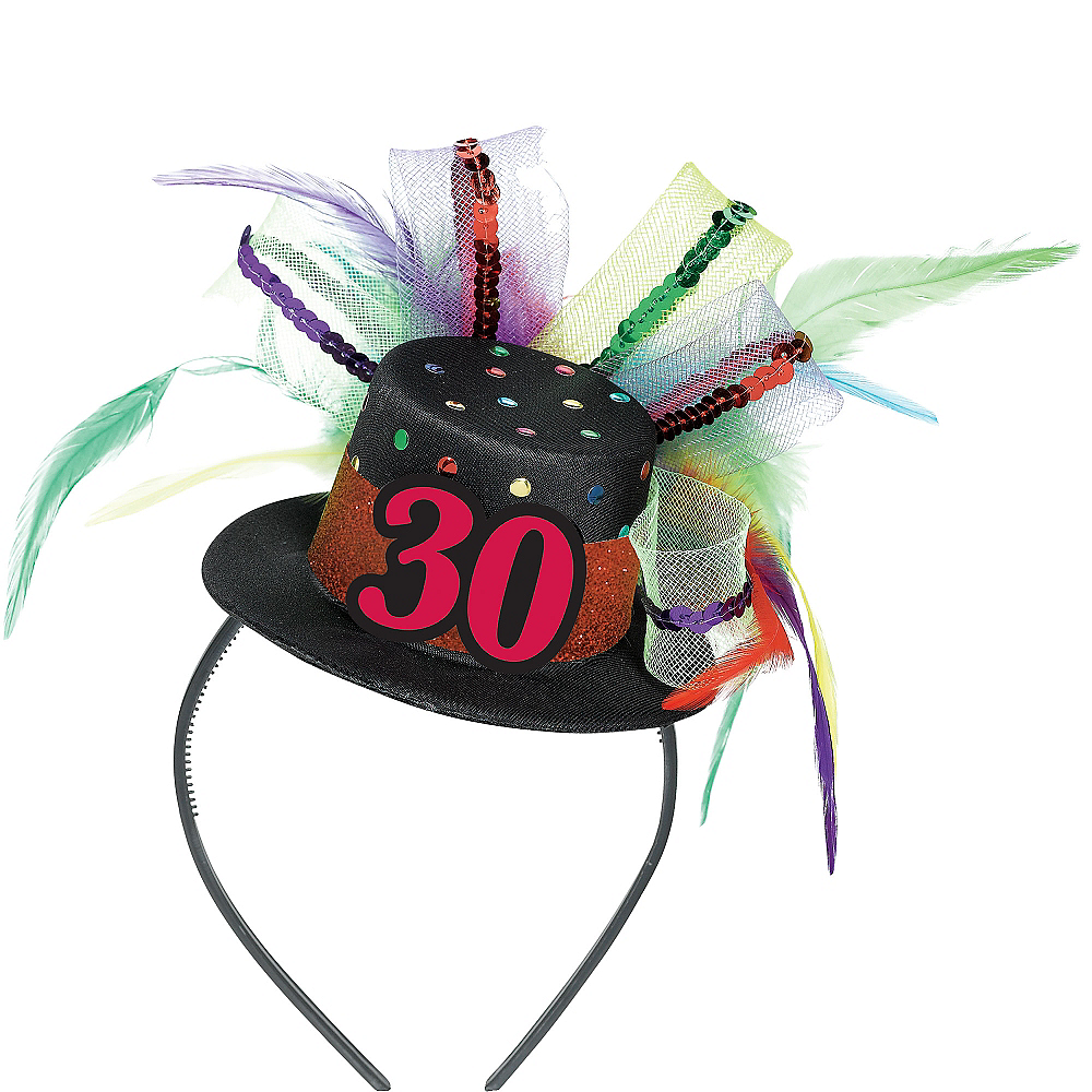 30th Birthday Mini Top Hat Headband Image #1