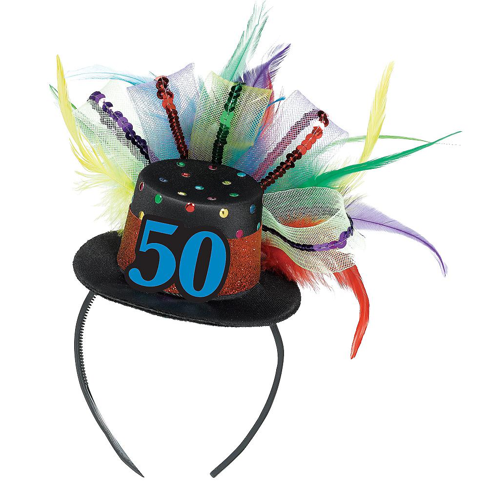 50th Birthday Mini Top Hat Headband