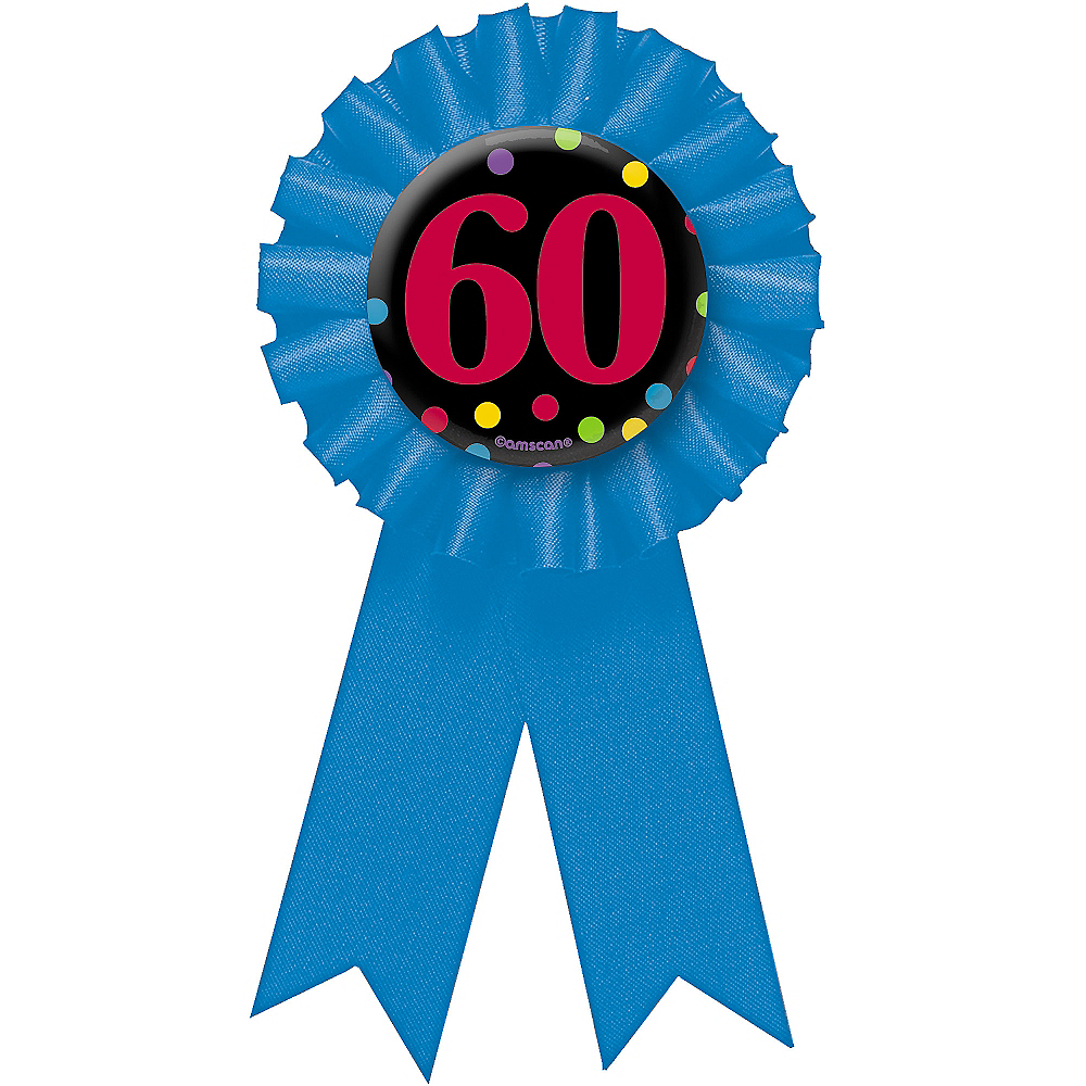 60th Birthday Award Ribbon Image #1