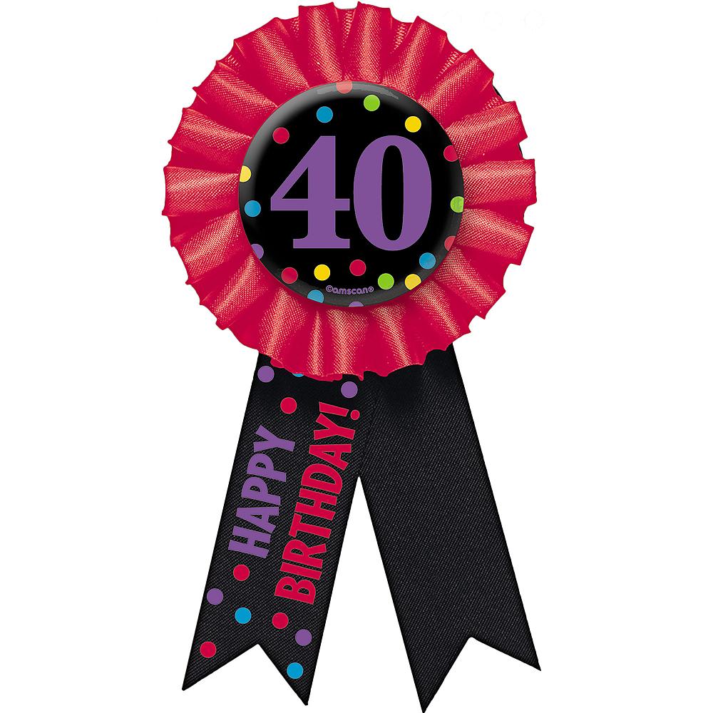 40th Birthday Award Ribbon Image #1