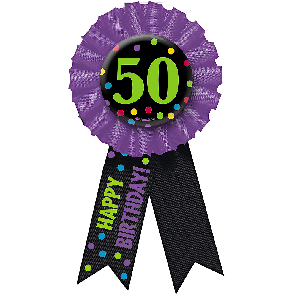 50th Birthday Award Ribbon Image #1