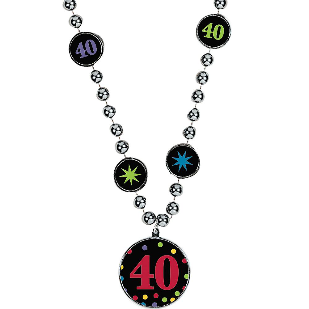 40th Birthday Pendant Bead Necklace Image #1