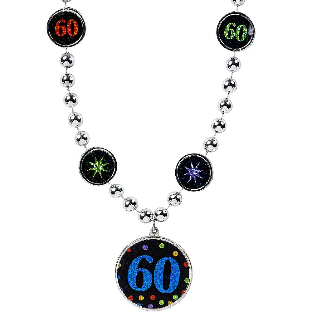 60th Birthday Pendant Bead Necklace Image #1