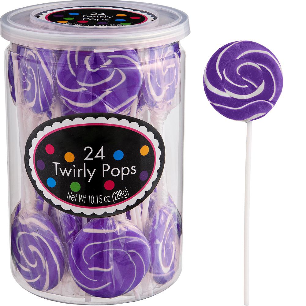 Purple Swirly Lollipops 24pc Image #1
