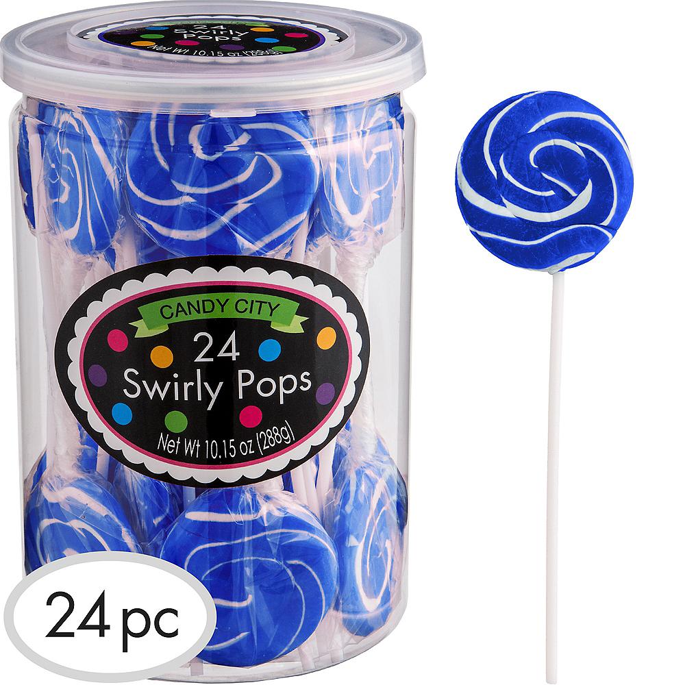Royal Blue Swirly Lollipops 24pc Image #1