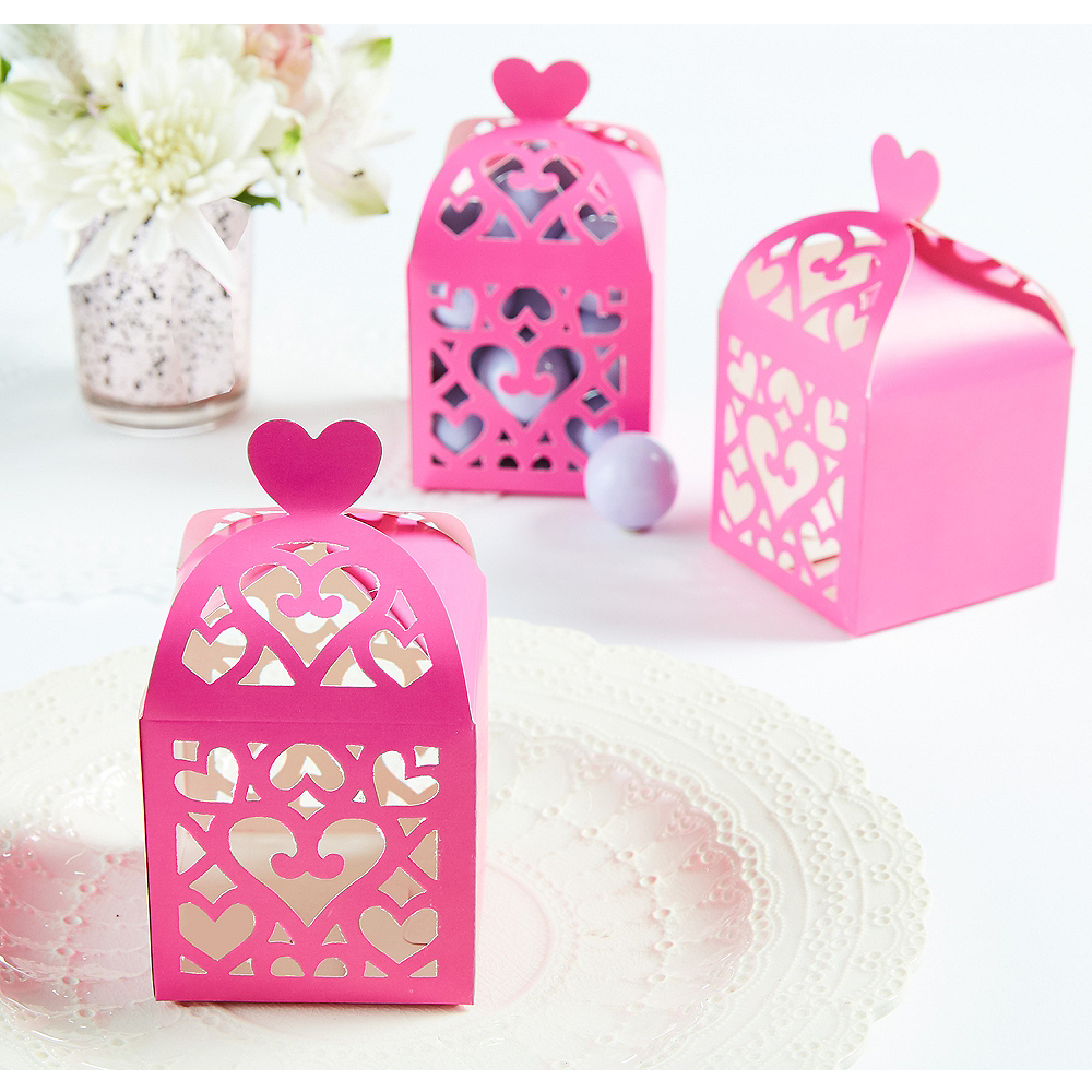 Bright Pink Lantern Favor Boxes Image #1