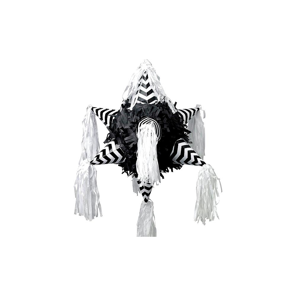 Black & White Chevron 8-Point Star Pinata Image #1