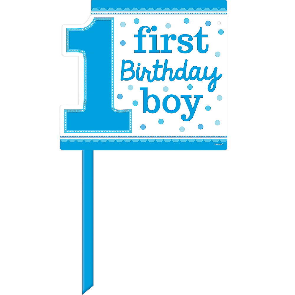 Blue Boy 1st Birthday Yard Sign 15in x 14in | Party City