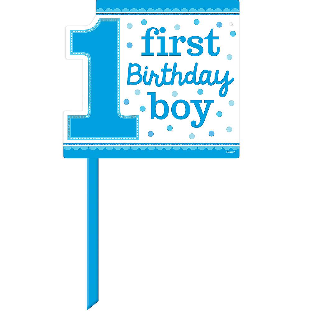 Blue Boy 1st Birthday Yard Sign Image 1