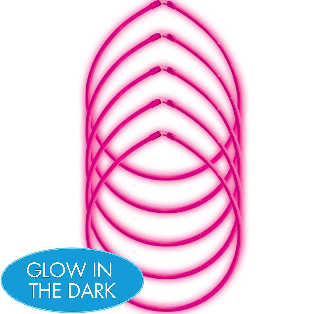 Pink Glow Sticks 5ct Image #1