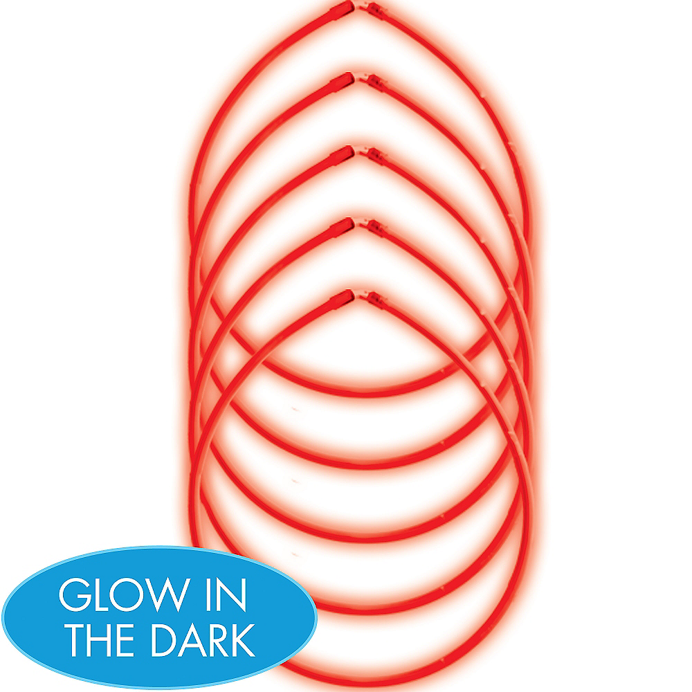 Nav Item for Red Glow Sticks 5ct Image #1
