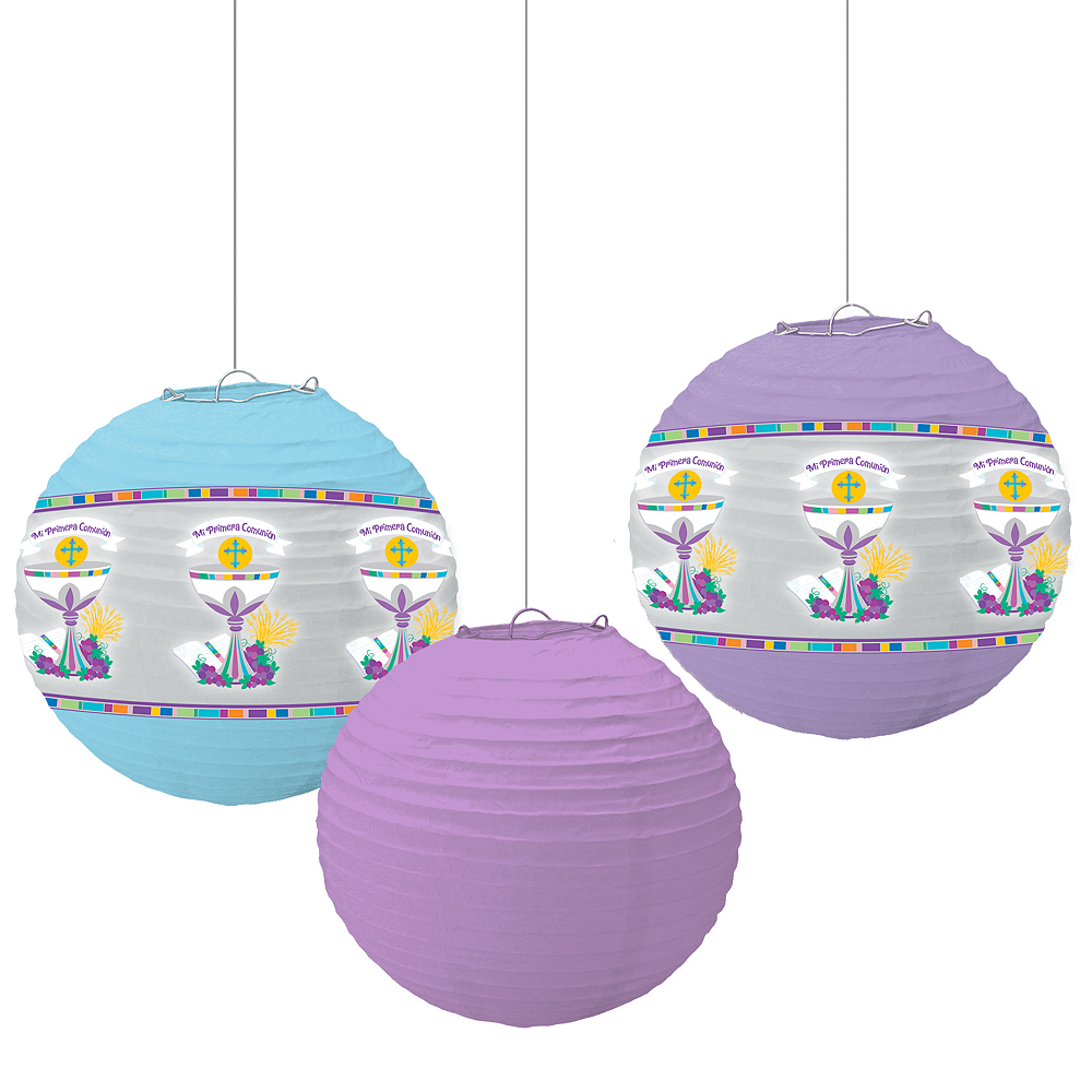 Nav Item for Mi Primera Comunion Paper Lanterns 3ct Image #1