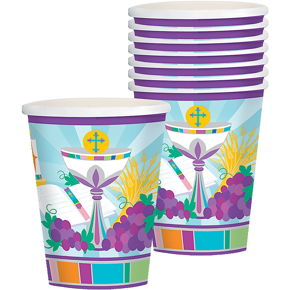 Nav Item for Mi Primera Comunion Cups 8ct Image #1