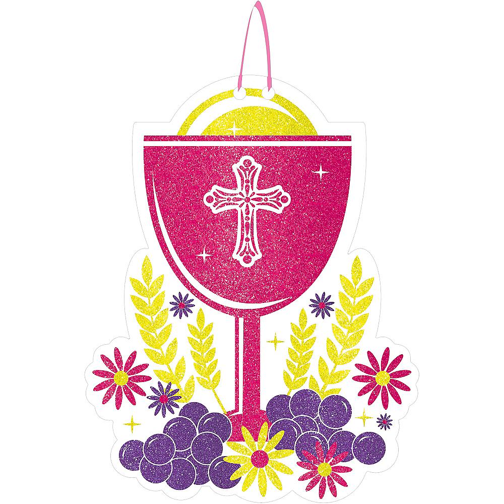 Glitter Pink Chalice Communion Sign Image #1