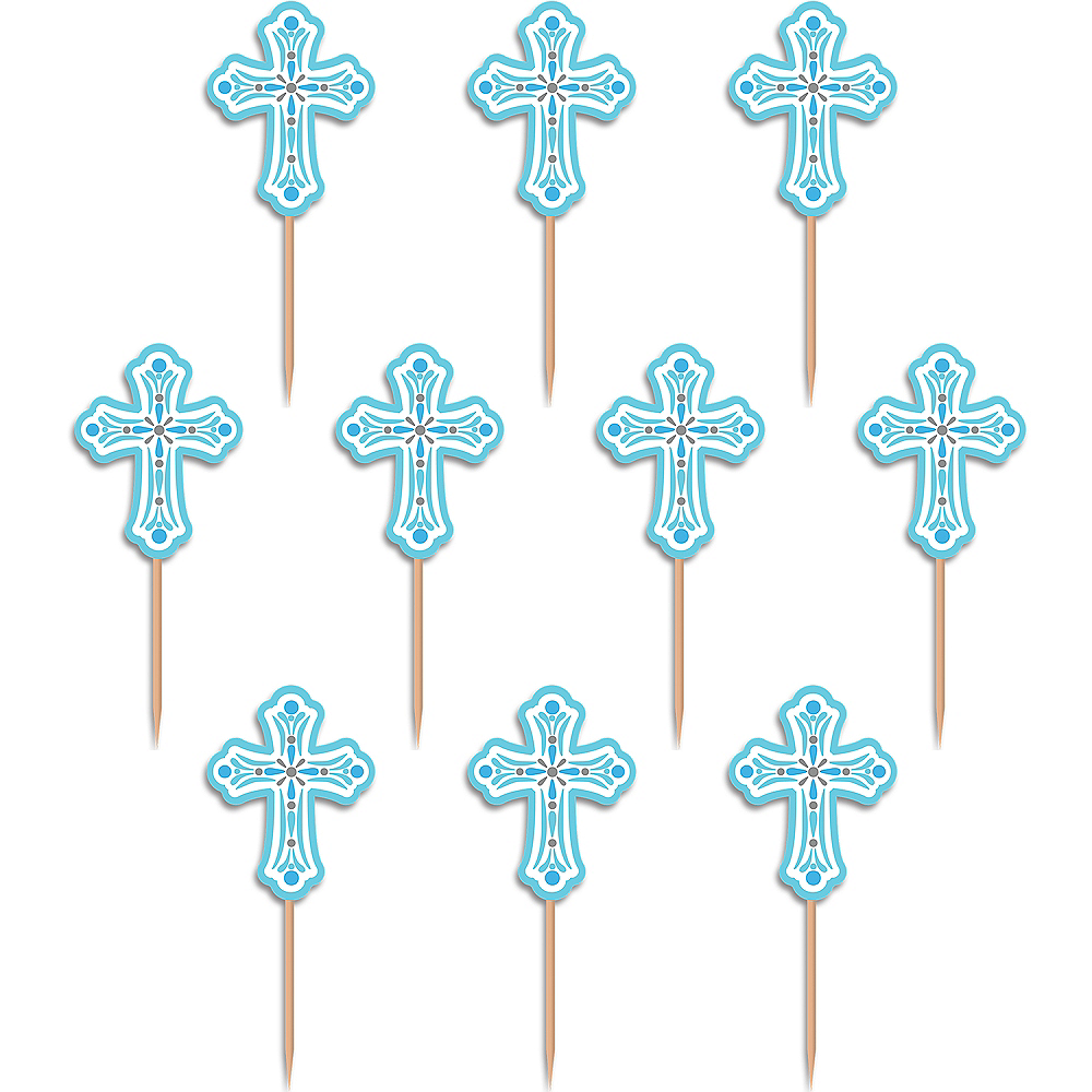Blue Communion Party Picks 36ct Image #1