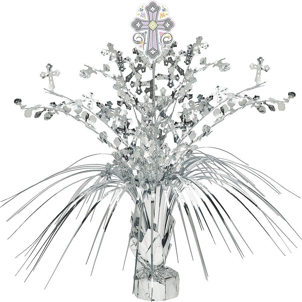 Silver Religious Spray Centerpiece Image #1