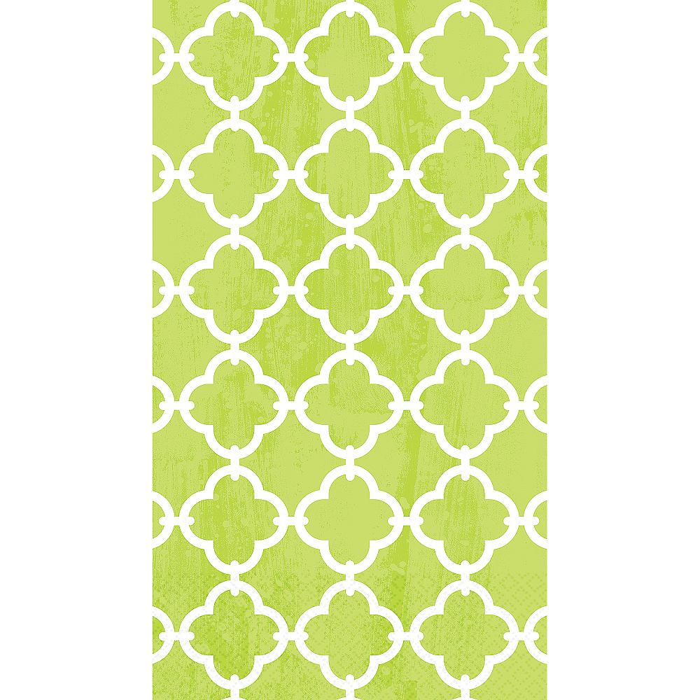 Spring Green Moroccan Tile Guest Towels 16ct Image #1