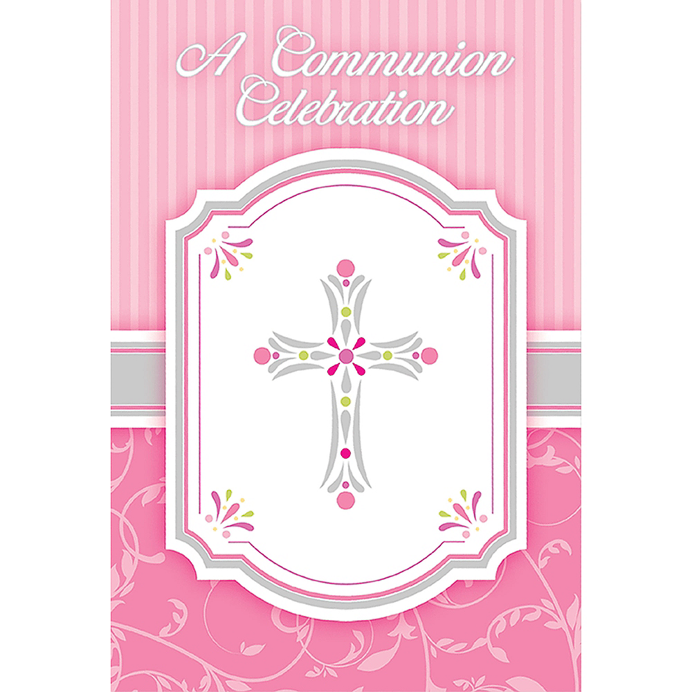 Girl's Communion Invitations 8ct Image #1