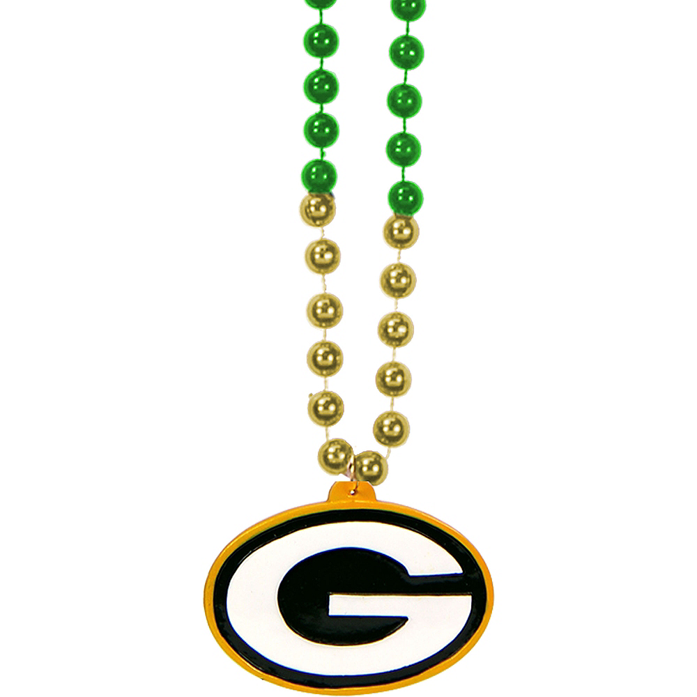Green Bay Packers Pendant Bead Necklace Image #1