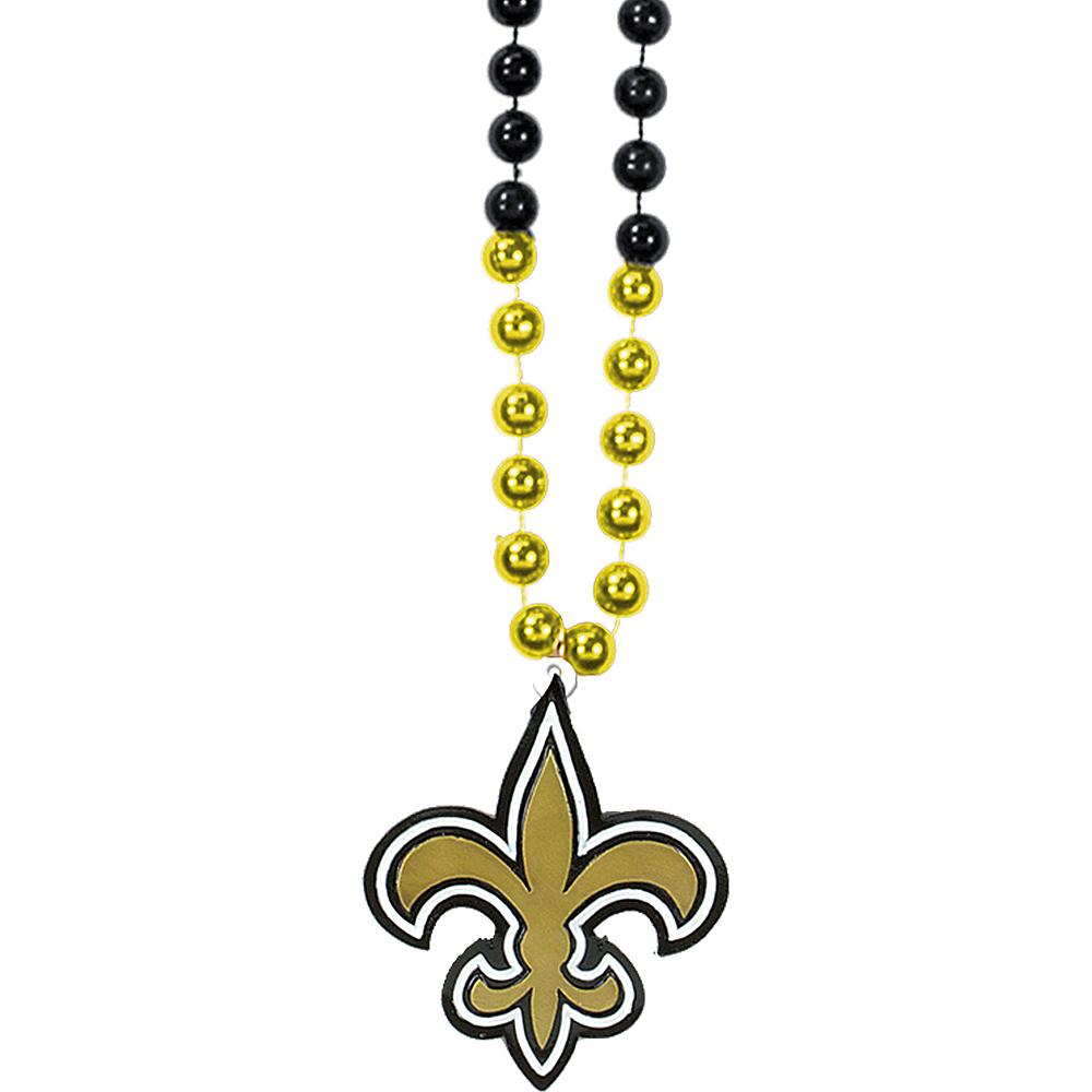 New Orleans Saints Pendant Bead Necklace Image #1