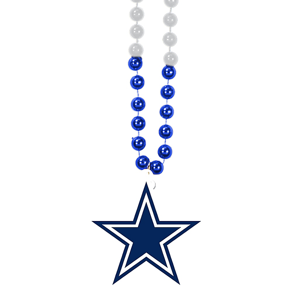 Nav Item for Dallas Cowboys Pendant Bead Necklace Image #1