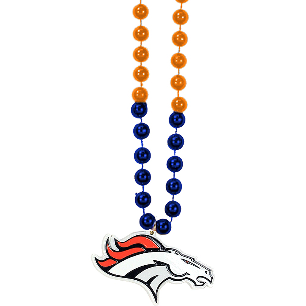 Nav Item for Denver Broncos Pendant Bead Necklace Image #1