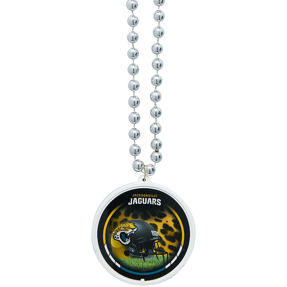 Nav Item for Jacksonville Jaguars Pendant Bead Necklace Image #1