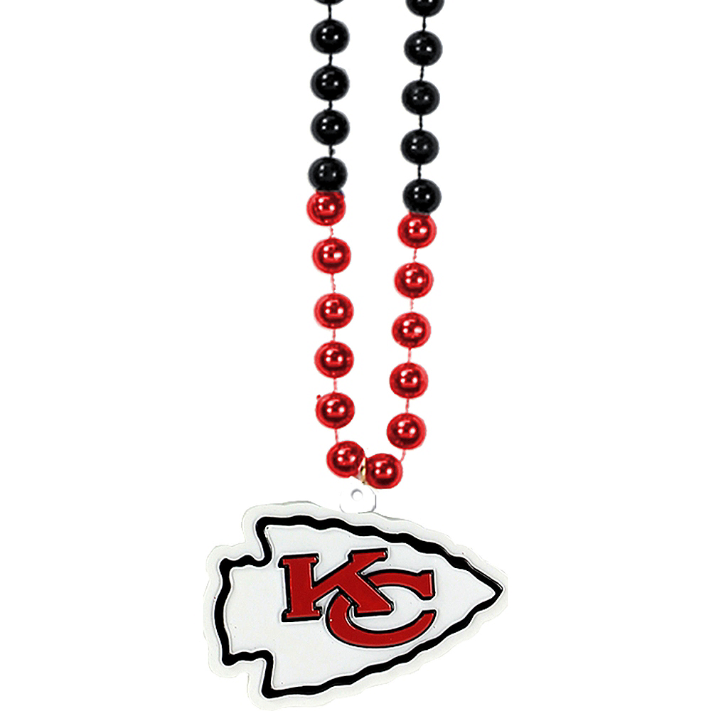 Kansas City Chiefs Pendant Bead Necklace Image #1