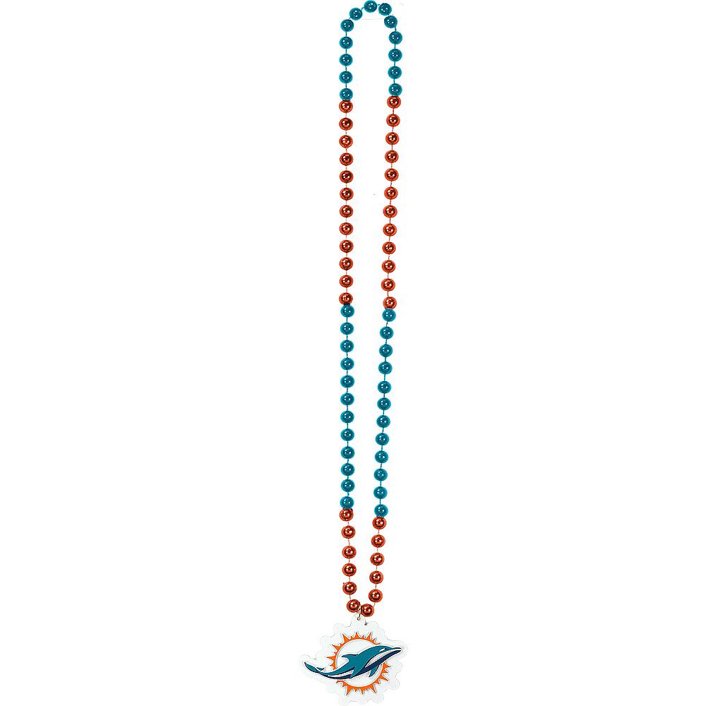 Miami Dolphins Pendant Bead Necklace Image #2