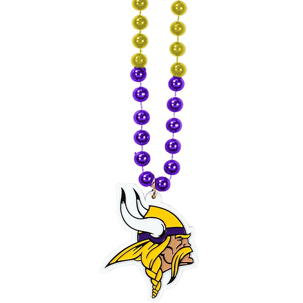 Minnesota Vikings Pendant Bead Necklace Image #1