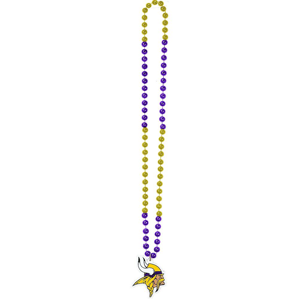 Minnesota Vikings Pendant Bead Necklace Image #2