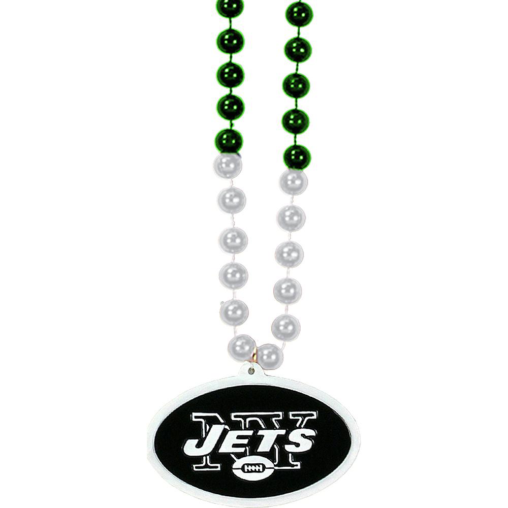 New York Jets Pendant Bead Necklace Image #1