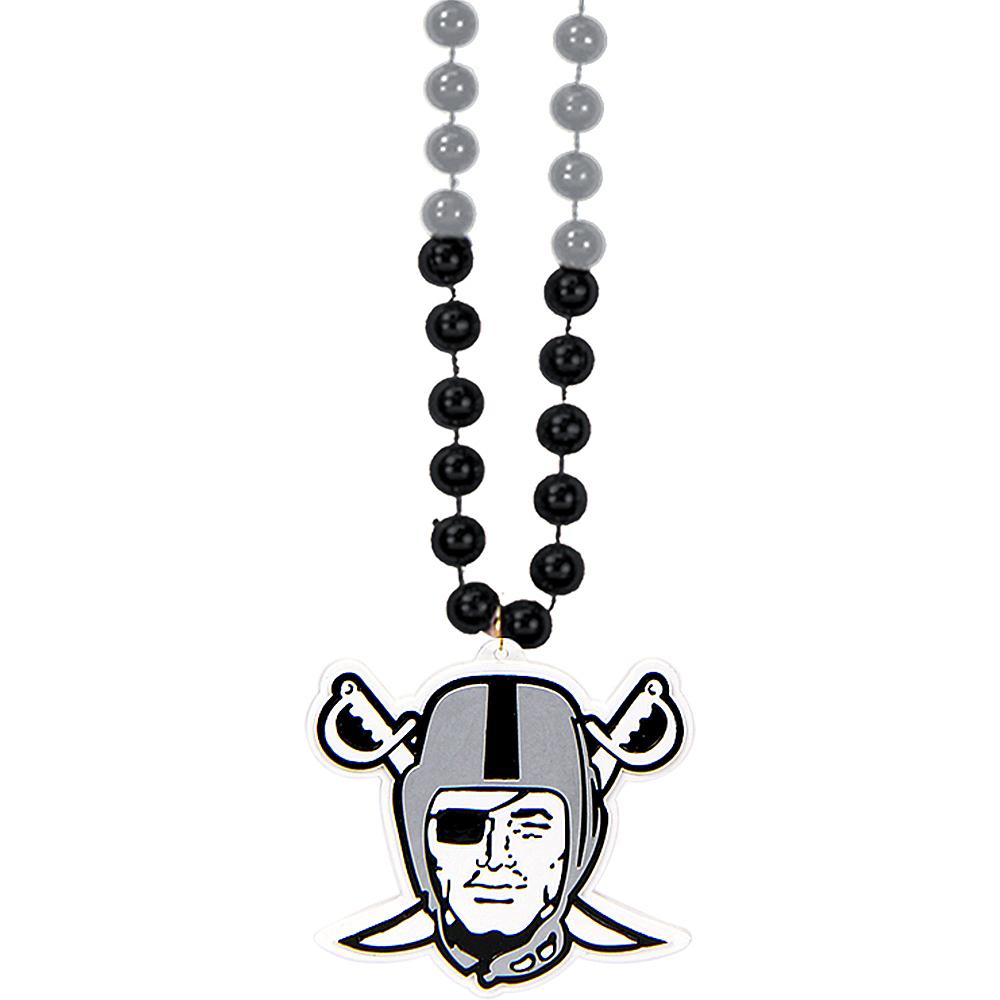 Oakland Raiders Pendant Bead Necklace Image #1