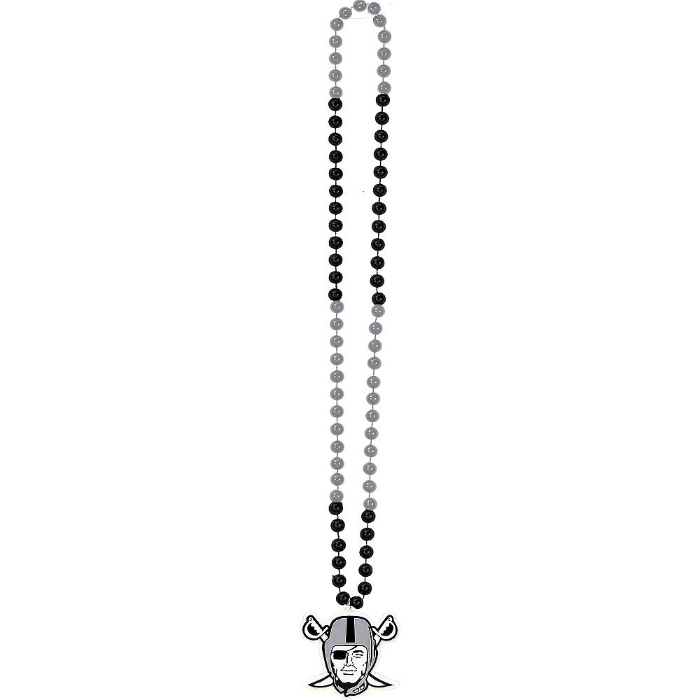 Oakland Raiders Pendant Bead Necklace Image #2