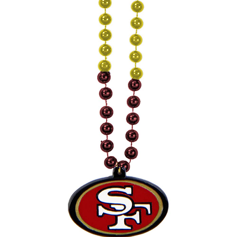 San Francisco 49ers Pendant Bead Necklace Image #1