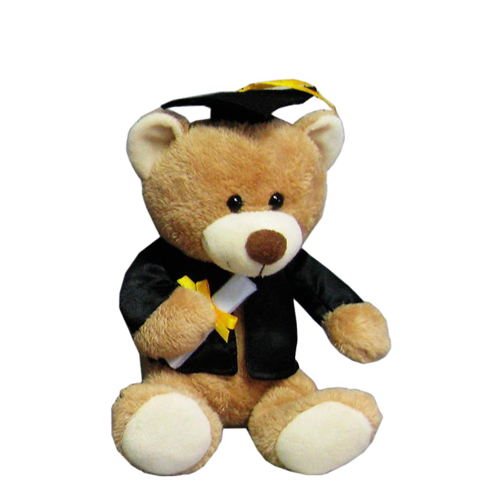 Black & Tan Graduation Teddy Bear Image #1